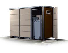 moderne mlltonnenbox mit mehrwert ideen rund ums haus pinterest bin storage outdoor storage and yard ideas - Moderner Eingangsbereich Aussen