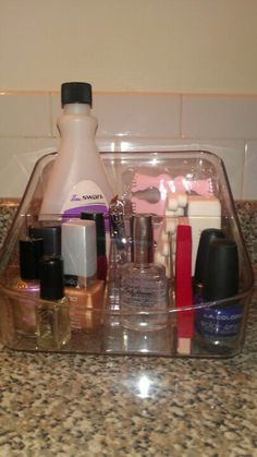 *Different things to do with the Clever Container Coffee Caddy. Use it as a nail station to hold your polish, files, remover, etc. www.mycleverbiz.com/aprildelrio