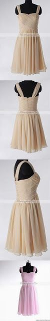 Fashion with spaghetti straps dress...perfect for the flower girl!!!