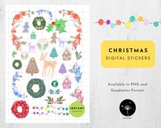 Christmas Digital Stickers for Digital Planners Holiday | Etsy