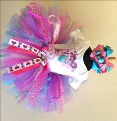 Abby Cadabby Fairy Purple Boutique Birthday Party Tutu Set