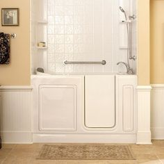 Indy Renovation is adept at installing walk-in tubs and showers for bathroom safety. Call us in the Indianapolis area at Walk In Tub Shower, Bathtub Shower Combo, Walk In Bathtub, Shower Remodel, Bath Remodel, Handicap Bathroom, Basement Bathroom, Master Bathroom, Bathroom Renovations