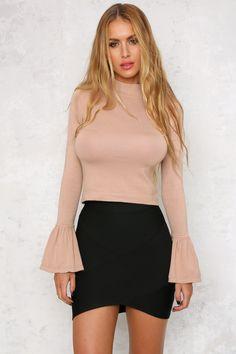 Hot Like Fire Skirt Black