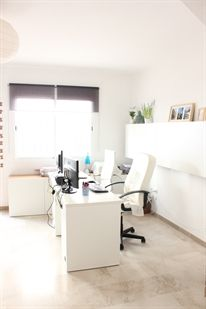 workspace in the living room