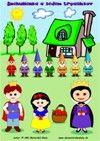 Snehulienka a sedem trpaslíkov - postavy - slovná zásoba, matematika - farebný pracovný list pre mš