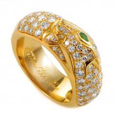 18K Yellow Gold Diamond Pave Band Ring