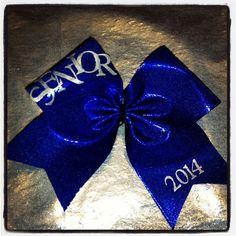 Senior 2014 Cheerleading Hair Bow Cheerbow by CheerbowChateau, $14.00