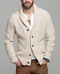 Men's hand knit cardigan 28A