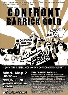 Protest Barrick:CONFRONT BARRICK GOLD! Annual General Meeting Protest