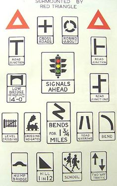 Old Road Signs - mileposts, direction signs & road furniture