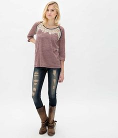 Gimmicks by BKE Pieced Top - Women's Shirts/Tops | Buckle