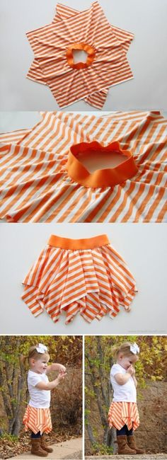 Very easy, cute little skirt.