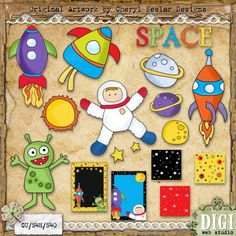 Spaced Out 1 - Cheryl Seslar Country Clip Art