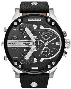 Valentine's Gifts For Him. DIESEL® 'Mr. Daddy 2.0' Chronograph Leather Strap Watch, 57mm