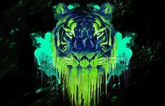 Toxic green tiger
