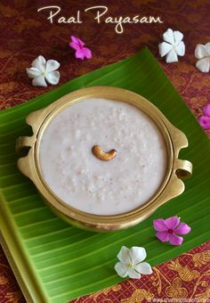 Share this on WhatsAppPal Payasam is yet another tasty kheer recipe that is easy to be made. Prepared by simmering broken rice in milk and [. Indian Dessert Recipes, Indian Snacks, Sweets Recipes, Indian Recipes, Kerala Recipes, Kheer Recipe, South Indian Sweets, Indian Cookbook, Gourmet
