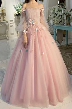 Off-the-shoulder wedding dress longer sleeves Prom Dresses Unique Prom Outfit Long Evening Gowns strapless party dress Prom Dresses Long With Sleeves, Unique Prom Dresses, Formal Evening Dresses, Ball Dresses, Elegant Dresses, Evening Gowns, Vintage Dresses, Ball Gowns, Wedding Dresses