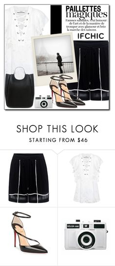 """""""Untitled #3735"""" by polybaby ❤ liked on Polyvore featuring Preen, IRO, Polaroid, Christian Louboutin, Holga, 10 Crosby Derek Lam, summersale and ifchic"""