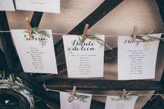 La Boda de Laura y José by El Balcón de Alicia. Seating Plan. Foto: Kiwo @telva  #realwedding #boda #finca #decoración #decor #seating