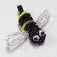 Pom Pom Fuzzy Bee Craft