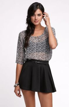 love love love this shirt. even cuter with the skirt. Kirra On The Edge shirt
