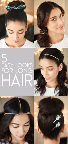 Styles For Long Hair | 15 Foolproof Ways Any Girl Can Pull Off Hair Accessories