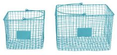 Storage GE Wire Shop Baskets Turq AUG