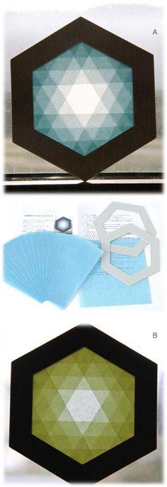 六角形枠のトランスパレント手づくりキット