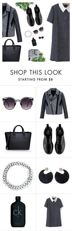 """Your Daily Flatlay no. 3"" by frustrated-designer on Polyvore featuring Quay, Neil Barrett, Victoria Beckham, Dr. Martens, ASOS, Marni, Calvin Klein and Sony"