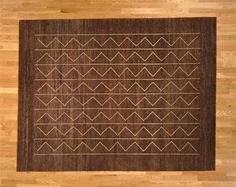 Hand Knotted Amazing Chocolate Brown & Ivory Modern Area Rug (7'9'' x 10') via 1800 Get A Rug