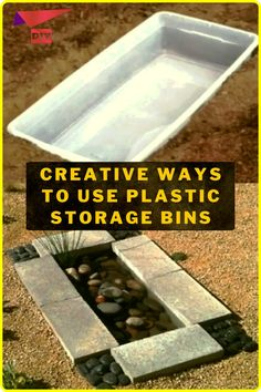 Plastic Storage, Storage Bins, Plastic Bins, Diy Furniture Projects, Diy Projects, Large Backyard Landscaping, Rose House, Backyard Fireplace, Use Of Plastic