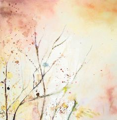 Branches  Original watercolor painting 12x12inch. $75.00, via Etsy.