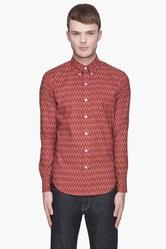 UNITED Clay red Arrow Print shirt