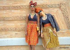 Fanm Djanm skirts with matching headwraps!