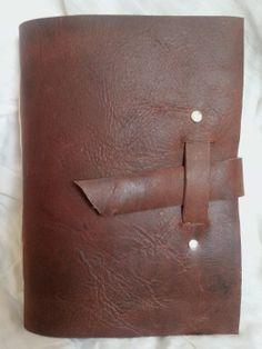 Handmade Leather Journal Dark Brown with by FinleyCrewLeather, $19.00