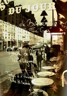 bistro menu and terrace...Inspiration for your Paris vacation from Paris Deluxe Rentals