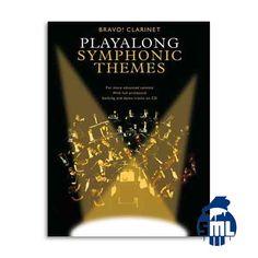 Livros com faixas em cd para tocar clarinete tendo uma orquestra sinfónica em fundo, encontra no Salão Musical de Lisboa.