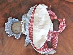 "10"" tall Cloth Topsy Turvy Doll from ~ BAYBERRY'S ANTIQUES ~ found @Doll Shops United http://www.dollshopsunited.com/stores/bayberrys/items/1299093/10-Cloth-Topsy-Turvy-Doll #dollshopsunited"