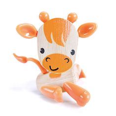 Giraffe loves driving in the car with you! Bamboo and eco-friendly animal toys. Fully posable with movable body feartures - legs, tail, ears and nose. Perfect travel size for backpack or purse toy! Makes a great desk pal for the office, too.