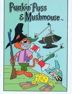 Punkin' Puss & Mushmouse is a cartoon produced by Hanna-Barbera and original… - Wood Projects Classic Cartoon Characters, Favorite Cartoon Character, Cartoon Tv, Classic Cartoons, Cartoon Shows, Vintage Cartoons, Vintage Comics, Old Tv Shows, Kids Shows