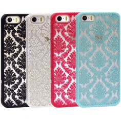 Damask Vintage Pattern Rubber Protector Hard Case Cover For Apple iPhone 5S 5C-in Phone Bags & Cases from Electronics on Aliexpress.com