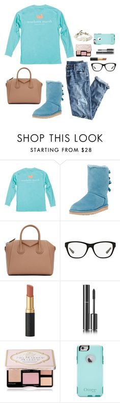 """""""Currently: Overloading My Basket Doing Online Shopping"""" by bowbeauty01 ❤ liked on Polyvore featuring J.Crew, UGG Australia, Givenchy, Ralph Lauren, Chanel, Too Faced Cosmetics, OtterBox, Kiel James Patrick and bowbeautiful"""