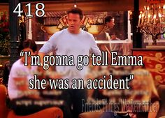 chandler... after telling a kid he was adopted and the triplets that Phoebe gave birth to them :)
