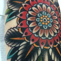 this looks cool. thinking im leaning toward getting mine with no color just shading tbh Kirk Jones, Traditional Tattoos, American Traditional, Mandala Tattoo, Looks Cool, Tattoo Inspiration, Sketching, Watercolor Tattoo, Tatting