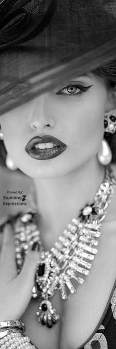 I lay no claim to most of the content included herein. Enjoy it! Black White Fashion, Black And White Pictures, Female Portrait Poses, She Is Fierce, Fashion Photography, Photography Portraits, Elegant Woman, White Women, Woman Face