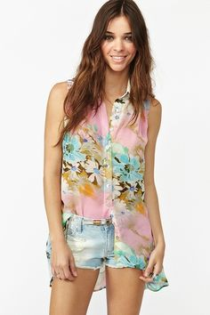 Floral blouse from Nasty Gal