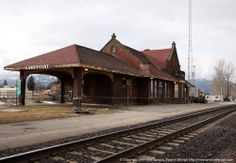 Sandpoint, Idaho | Historic Train Station }{ The iconic train station, has been closed since 2009 due to structural deficiencies linked to the rattling of 97 years' worth of trains coming and going from the station. The historic Gothic building dates back to 1913.