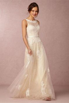Vintage Lace Wedding Dresses From BHLDN #laceweddingdresses