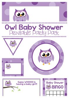 This owl baby shower printable pack is perfect for Owl Baby Shower Themes-including all the essentials you need to throw your baby shower. Invitations, banners, tags, and more.