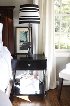 Knight Moves: New Nightstands + Bed Paint Color Selection Wood Floor Stain Colors, Refinishing Hardwood Floors, Guest Bedrooms, Paint Colors, New Homes, House Design, Flooring, Nightstands, Interior Design
